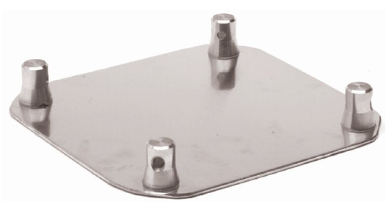"16"" x 16"" Aluminum Base Plate for Square Truss"