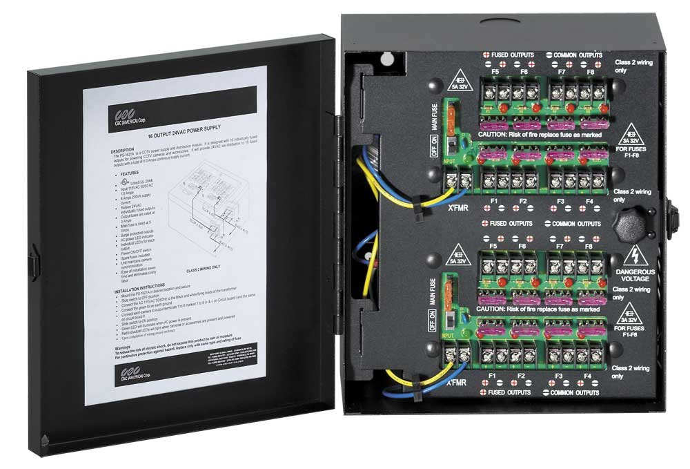 8-Output 24VAC PS Series Power Supply