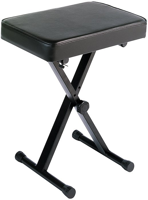 X-Style Portable Keyboard Bench in Black