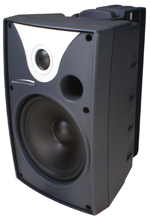 "Outdoor Speaker 5.25"" with Transformer, Pair, Black"