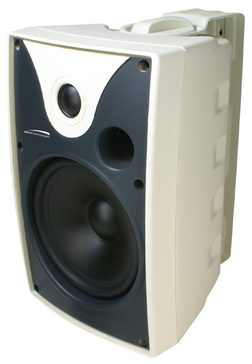 "Outdoor Speaker 5.25"" with transformer, White, Pair"