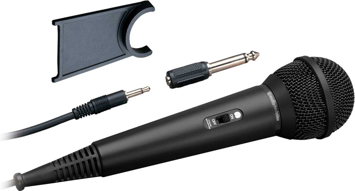 "Dynamic Cardioid Mic with On/Off Switch, 1/8"" Connector with 1/4"" Adapter"