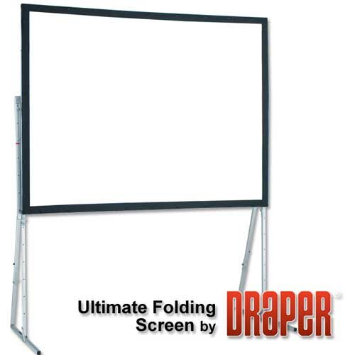 "Ultimate Folding Projection Screen, HDTV 16:9 Format, 112"" x 196"""