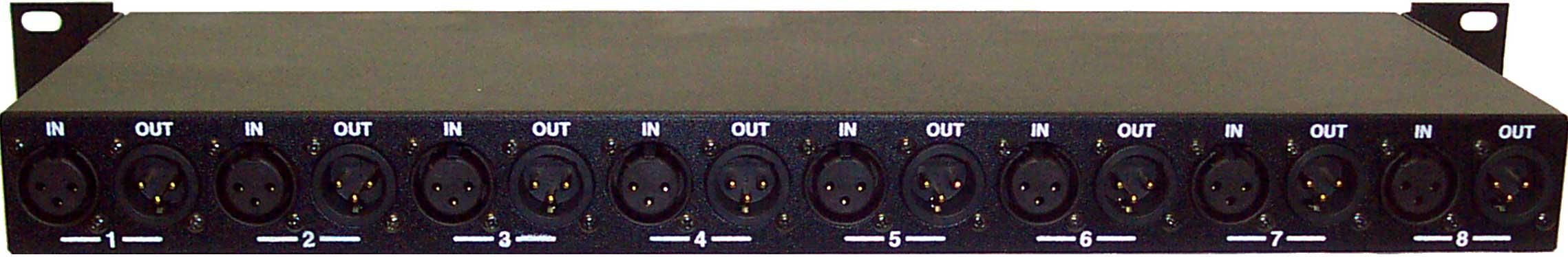 Hum Eliminator, 8 Channel, Rackmount, XLR Connectors