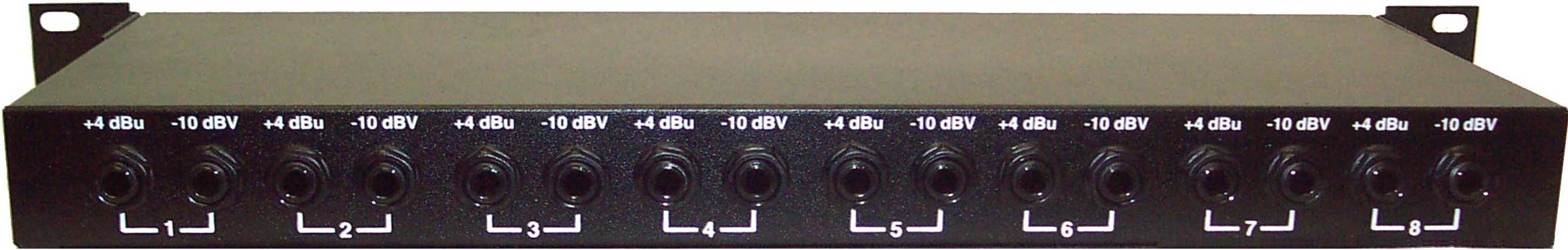 "8-channel Line Level Shifter, 1/4"" Connectors"