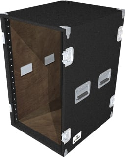 18-Space Extra-Deep Amp Rack (Black)