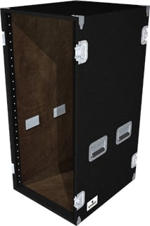 24-Space Extra-Deep Amp Rack (Black)