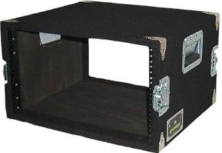 6 RU Amp Rack (with Recessed Hardware, Black)