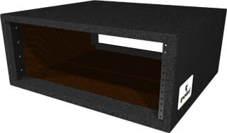 4 RU Carpeted Deep Rack Shell ( Rackable Depth, Black)