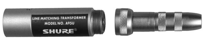"XLR Male Lo-Z to 1/4"" Female Hi-Z Line Matching Transformer"