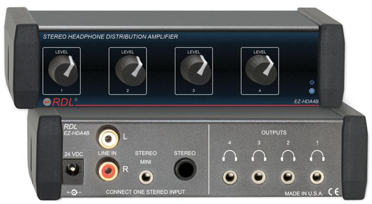radio design labs ez hda4b 1x4 headphone distribution amplifier full compass. Black Bedroom Furniture Sets. Home Design Ideas