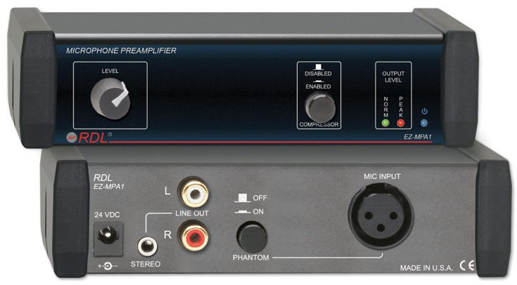 Mic Preamp with Compressor, Stereo Output