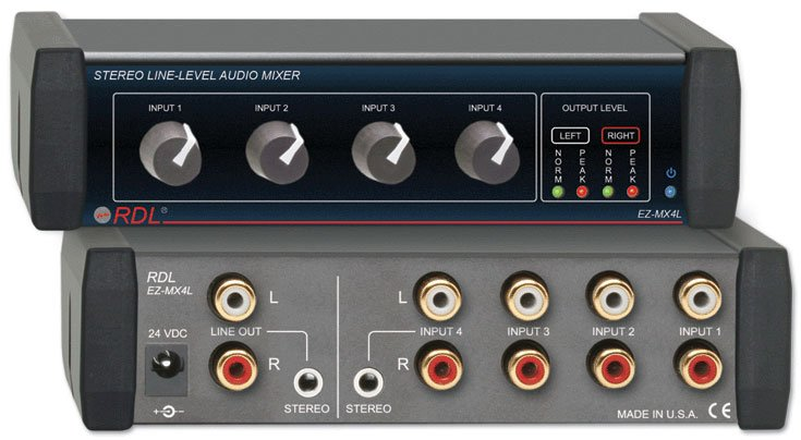 Stereo Line-Level Mixer 4x1