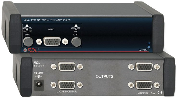Radio Design Labs EZ-VMD4 1x4 Video Distribution Amp VGA/XGA EZ-VMD4