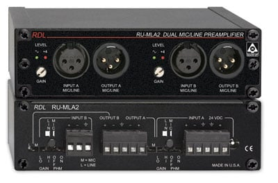 Dual Mic/Line Preamplifier with Transformer
