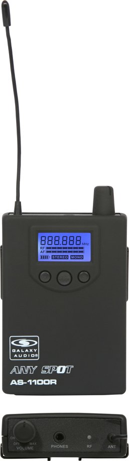 Galaxy Audio AS-1100R Any Spot Wireless Personal Monitor Receiver with EB3 Earbuds AS-1100R
