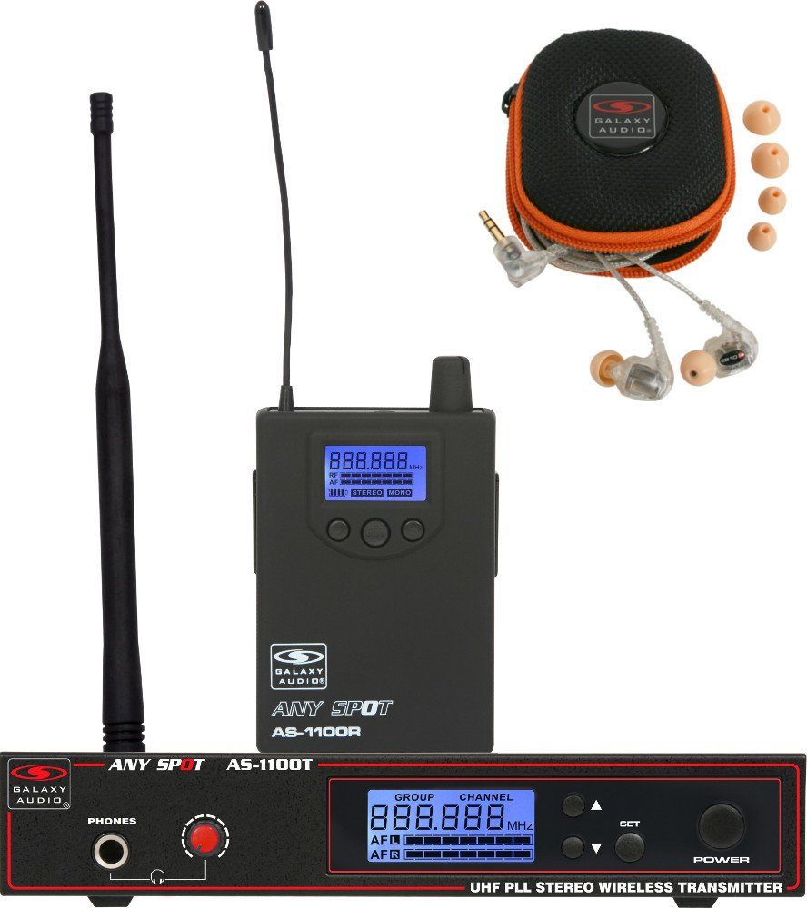 Any Spot Wireless Personal Monitor System with EB10 Dual-Driver Ear Buds