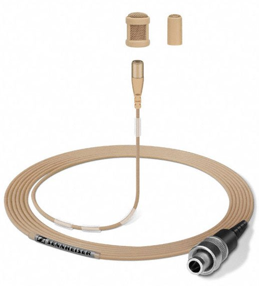 Omnidirectional Lavalier Microphone in Beige for ew Series Wireless Systems
