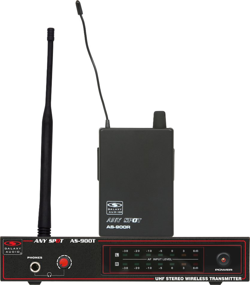 galaxy audio as 900 uhf wireless in ear monitor system with eb 3 ear buds full compass systems. Black Bedroom Furniture Sets. Home Design Ideas