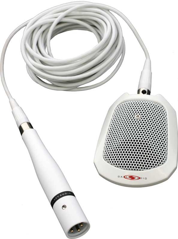 Surface Mount Boundary Microphone (with Roll-Off Switch, White)