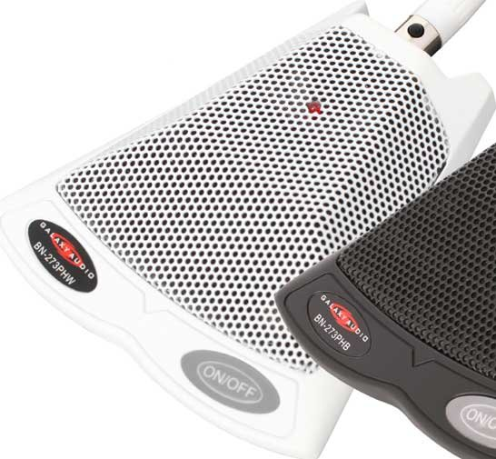 Push-To-Talk Boundary Microphone (with On/Off & Filter Switches, White)