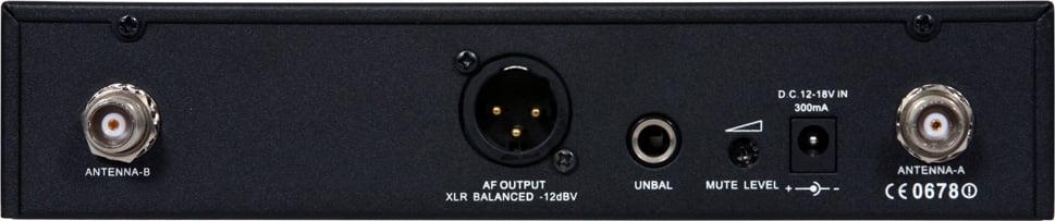 Wireless Handheld Mic System (DHTR Receiver, HH64SC Handheld Mic/Transmitter)