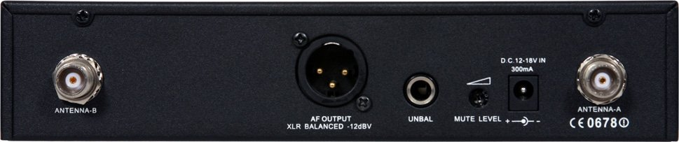 UHF Wireless Handheld Mic System (DHTR Receiver, HH76SC Handheld Mic/Transmitter)