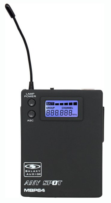 Body Pack Transmitter (for use with TRCR Wireless Receiver)
