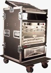 ATA-Style Pop-Up Mixer Case (10 RU Top, 14 RU Bottom)