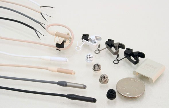 Lavalier Microphone with Reduced Sensitivity at -9dB and with Pigtails and 3m Cable