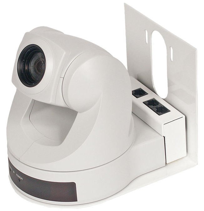 Thin Profile Wall Mount Bracket, White, for EVI-D70
