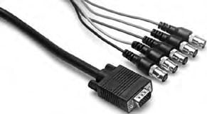 6 ft. 15-Pin to 5 BNC-F Video Breakout Cable