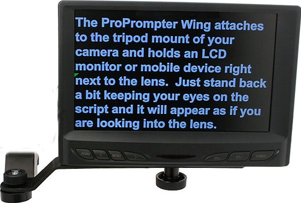 "Wing LCD Prompter Kit (with 7"" VGA LCD Flat Screen Monitor)"