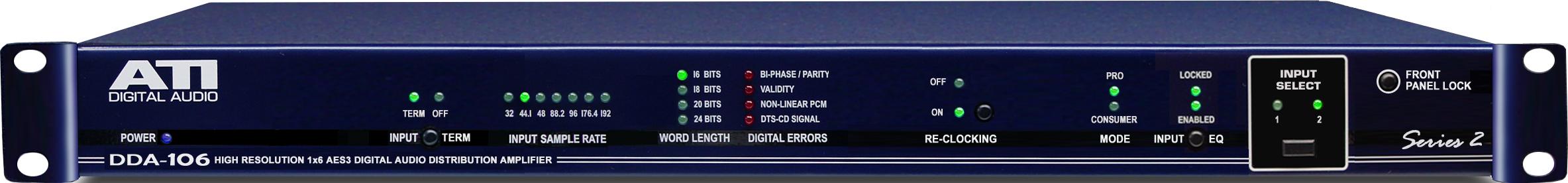 Distribution Amp, Digital, 1x6, XLR, AES/EBU