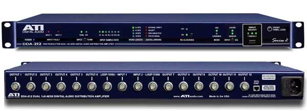 Digital Audio Distribution Amplifier, 2 Input 1x12 or Dual 1x6 DDA, BNC I/O