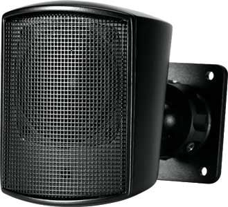 "50W 2.5"" Wall-Mount Satellite Speaker in Black"