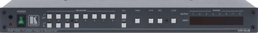 4x8 Video Matrix Switcher