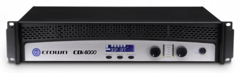Crown CDi6000 Dual Channel Power Amplifier Rated 2100W/Ch @ 4 Ohms CDI6000