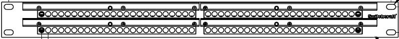 1RU 2x48 Bantam TT Bay with Solder Terminals, Half Normalled