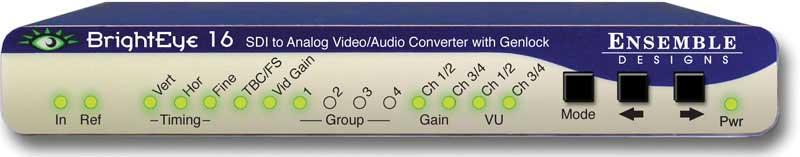 SDI-Analog Video Converter, with Frame Sync/Genlock and Audio Disembedder