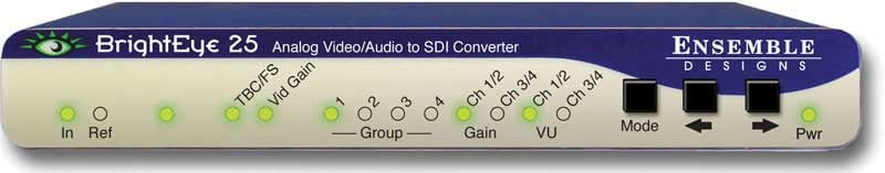 Analog Video/Audio to SDI Converter with TBC and Embedder