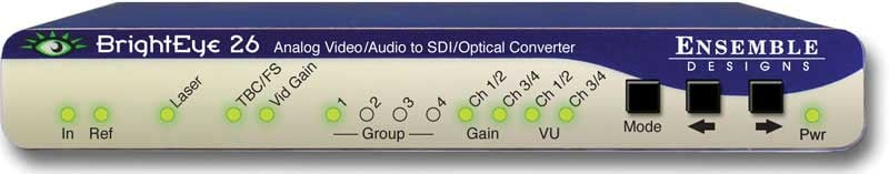 Analog Video/Audio to SDI/Optical Converter with TBC and Embedder