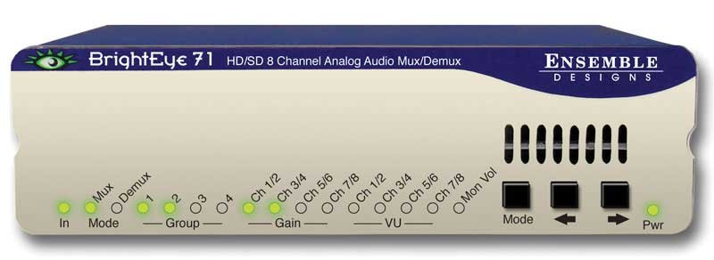 Ensemble Designs BE-71  HD/SD 8 Channel Analog Audio Embedder/Disembedder BE-71