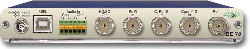 HD/SD Analog to Digital Video Converter with Analog Audio Embedder