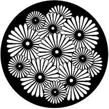 Sunburst Flowers Steel Gobo