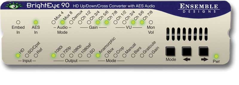 HD Up/Down Cross Converter and ARC with AES Audio