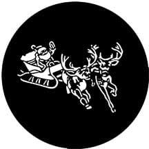 Rosco Laboratories 77720 Gobo Santa and Sleigh 77720