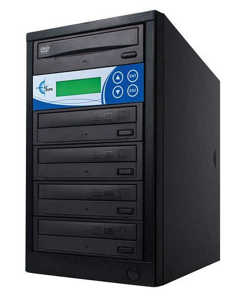 Disk-Lok 4 Target DVD/CD Duplicator, Copy Protected, Black