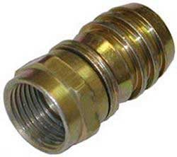 F Connector, Male, for 60% to Quad Shielded RG-6 Cable