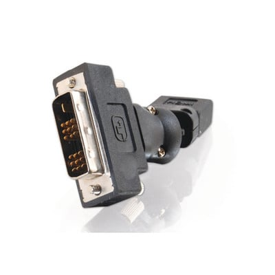 HDMI-F to DVI-D-M Adapter, 360° Rotating